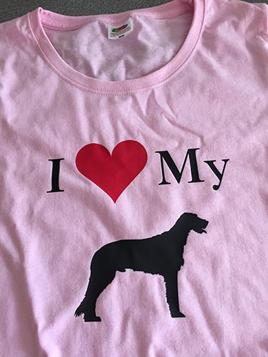 I Love My Irish Wolfhound T shirt